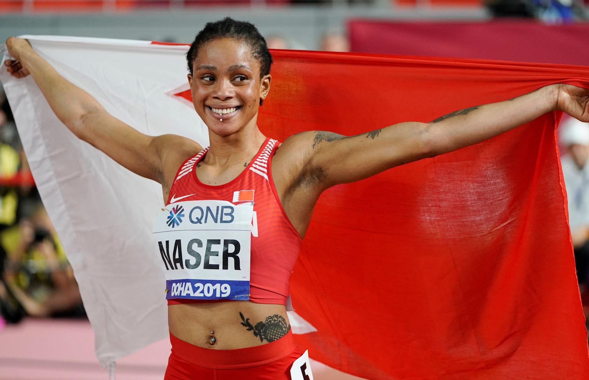 Salwa Eid Naser, world 400m champion, cleared in drug