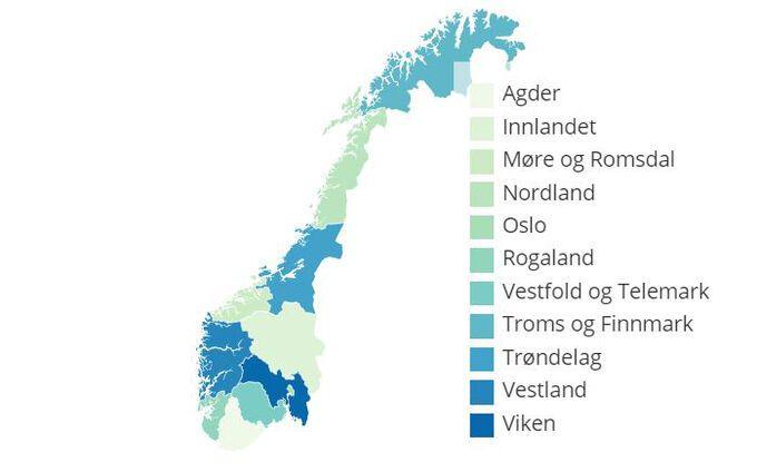 Slik Ser Det Nye Norgeskartet Ut Vg