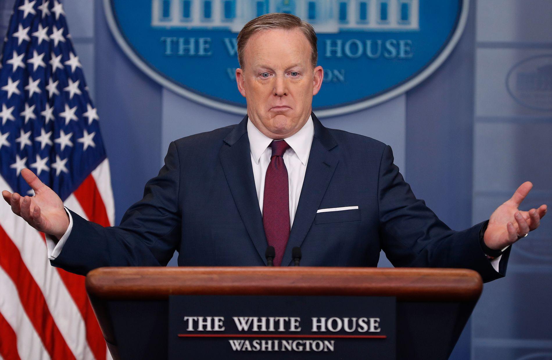 Sean Spicer, hace cuatro años.