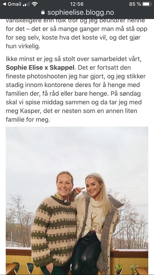 Dorthe intervjuet forretningspartneren Sophie Elise: Langt