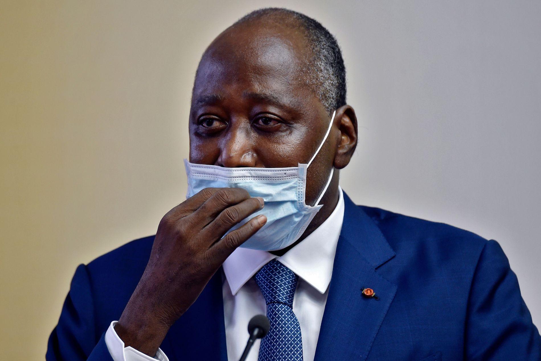 Elfenbenskystens  statsminister  døde  etter  regjeringsmøte