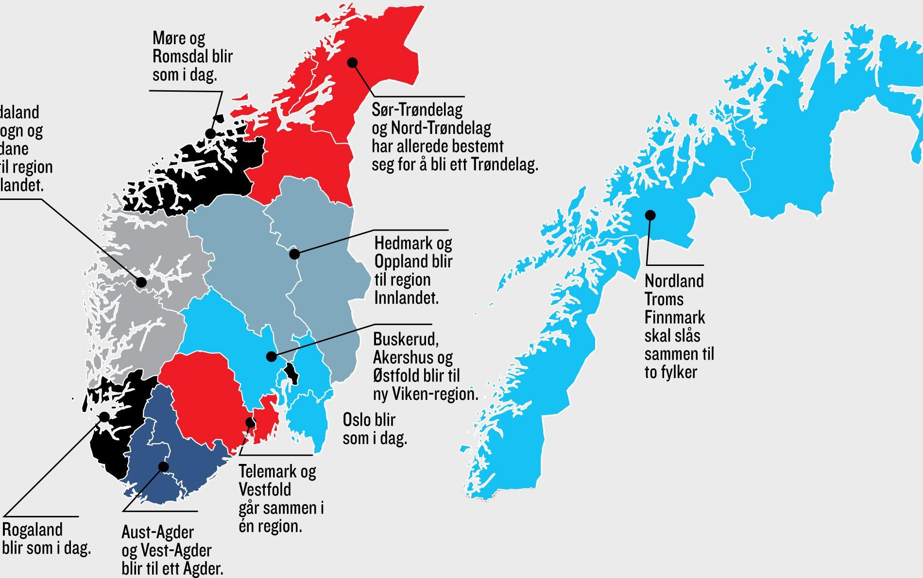 Dette Er Norges Nye Regioner Vg